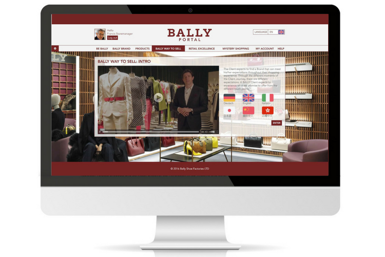 Bally LMS homepage