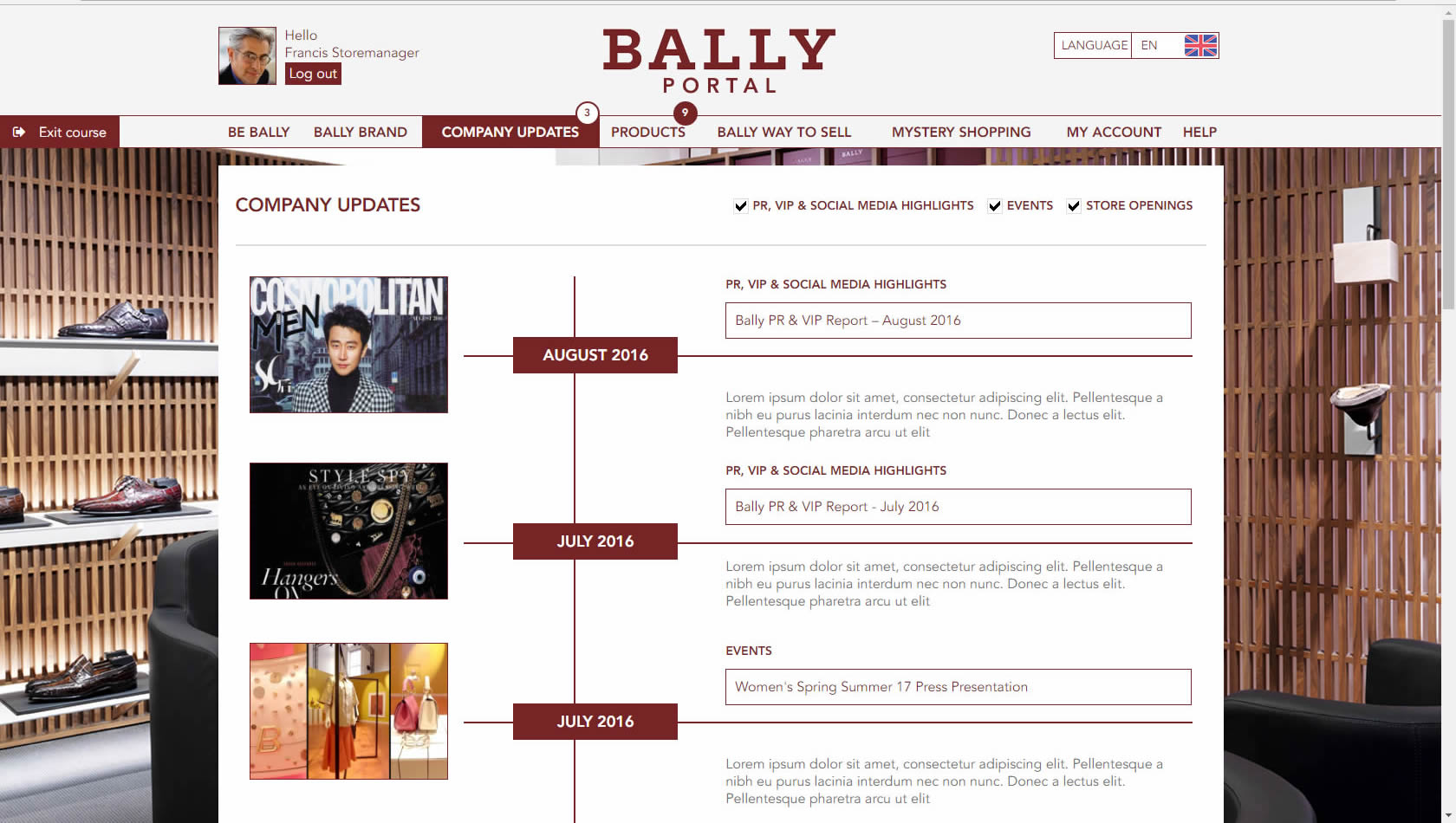Bally LMS company update