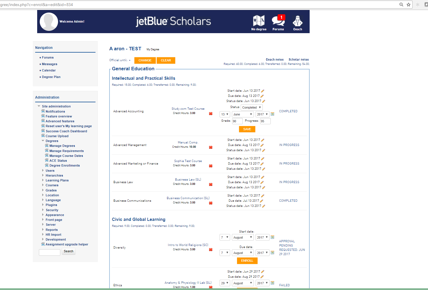 jetblue degree plan