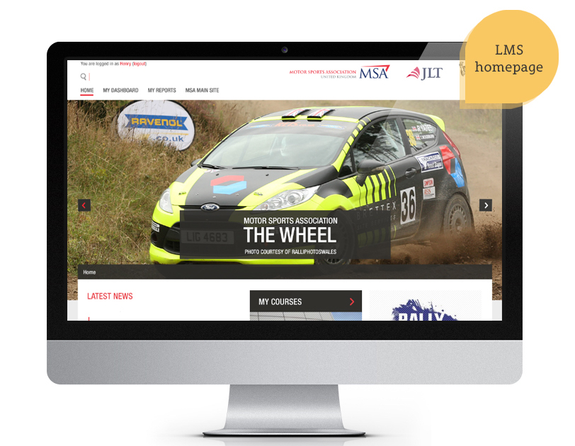 Motor Sports Association MSA lms homepage