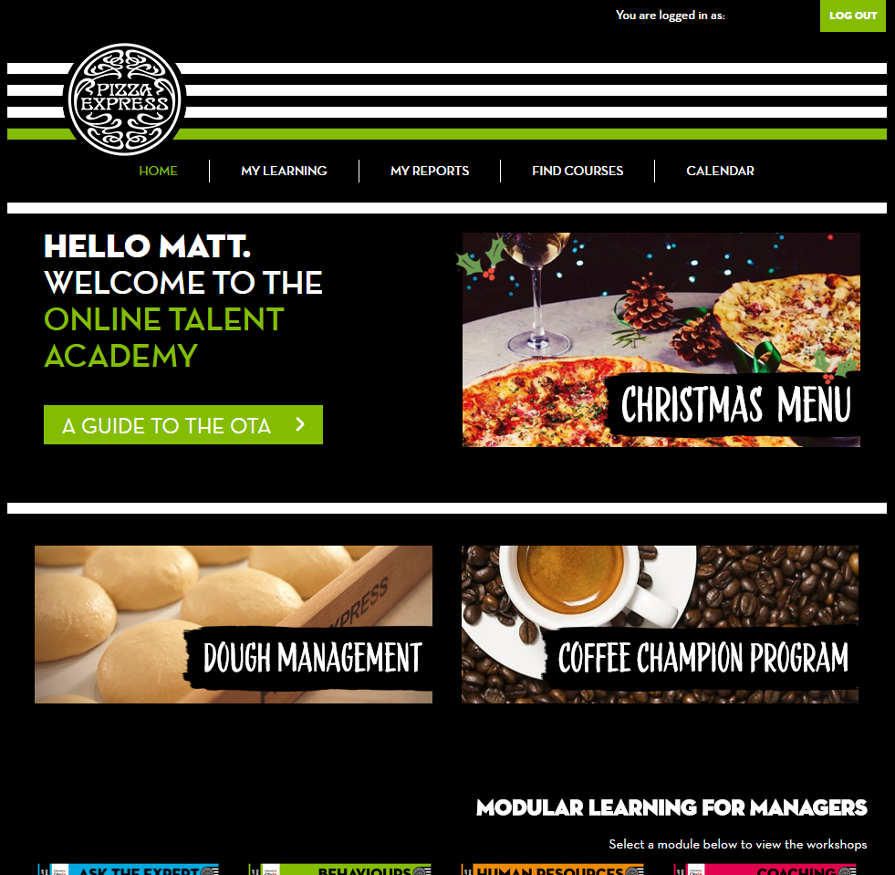 Pizza Express LMS