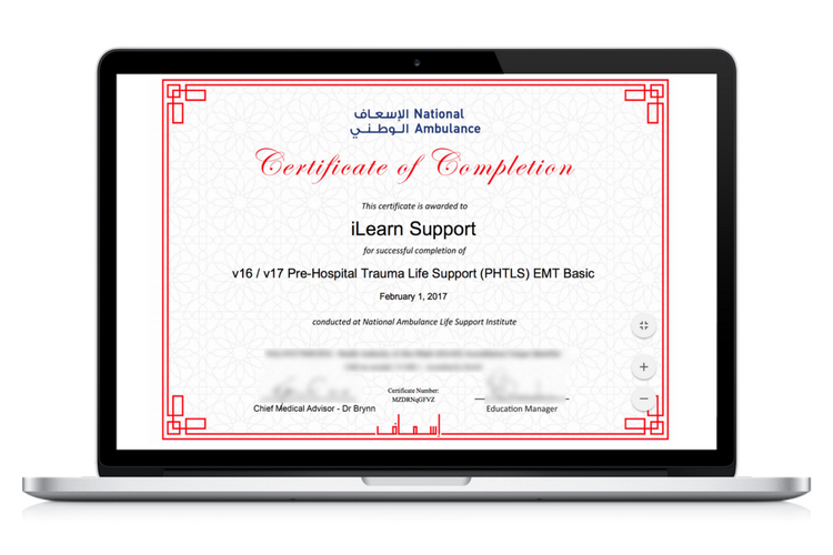 National Ambulance UAE LMS Certification
