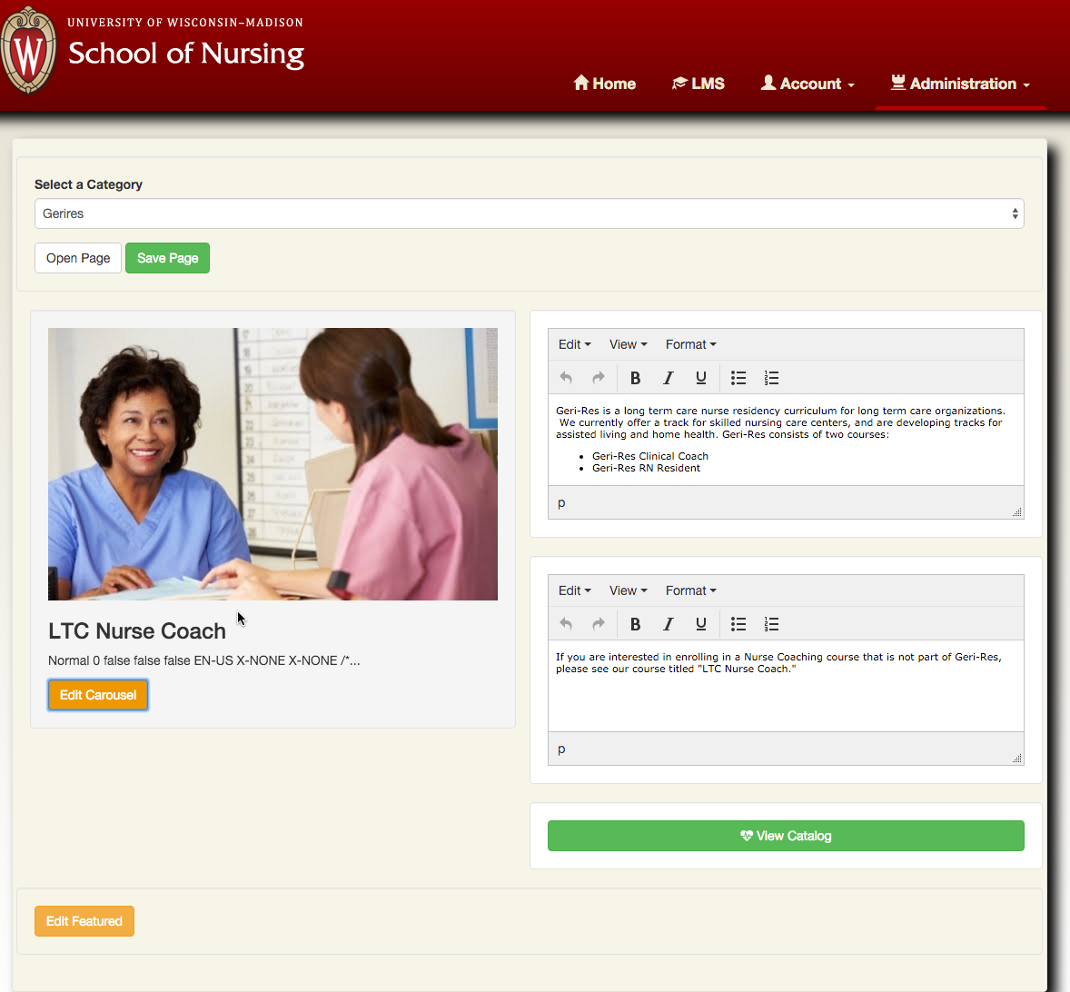 School of Nursing LMS