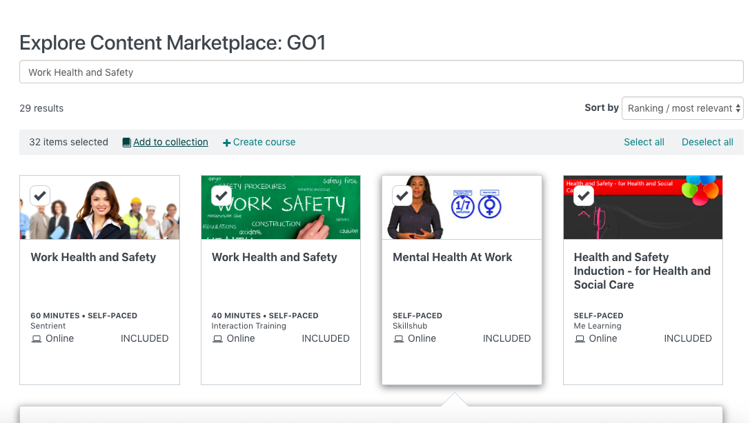 GO1 Marketplace