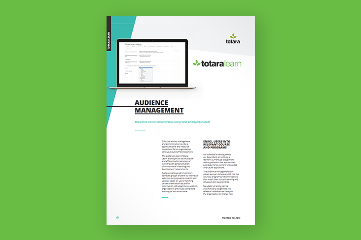 Totara Learn Audience Management