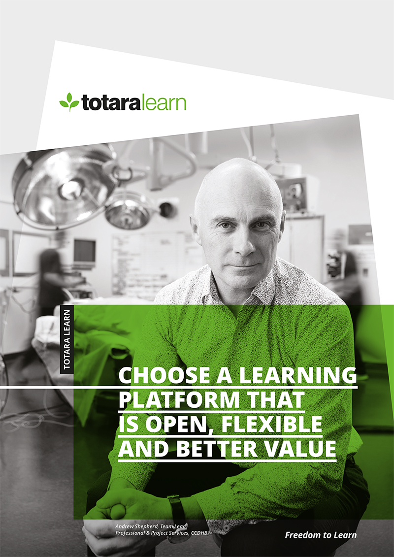 Totara Learn brochure front cover