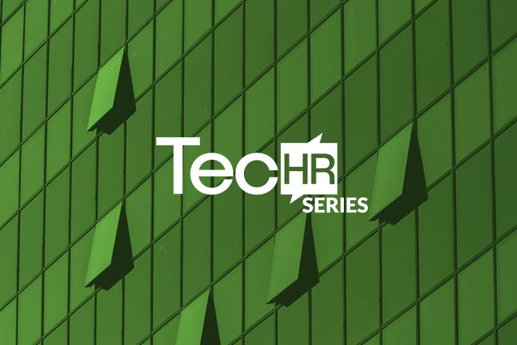 TecHRseries logo on a green open window background