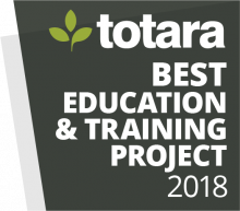 Totara Awards Badges - 2018 Best Education and Training project
