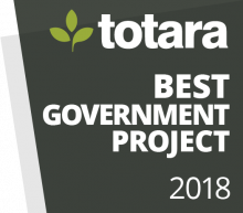 Totara Awards Badges - 2018 Best Government Project