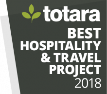 Totara Awards Badges - 2018 Best Hospitality and Travel Project