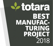 Totara Awards Badges - 2018 Best Manufacturing Project