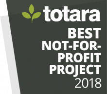 Totara Awards Badges - 2018 Best Not-for-profit Project