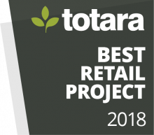 Totara Awards Badges - 2018 Best Retail Project
