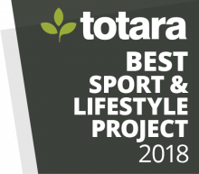 Totara Awards Badges - 2018 Best Sport and Lifestyle Project