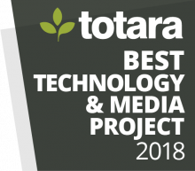 Totara Awards Badges - 2018 Best Technology and Media project