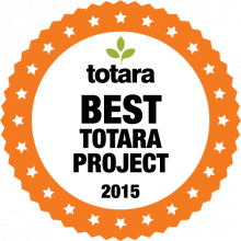 Totara Best Project 2015 badge