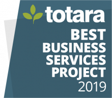 Totara Best Business Services Project 2019 badge