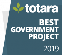 Totara Best Government Project 2019 badge