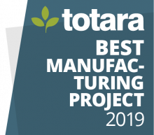 Totara Best Manufacturing Project 2019 badge