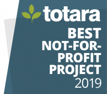 Totara Best Not-for-Profit Project 2019 badge