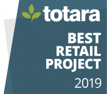 Totara Best Retail Project 2019 badge