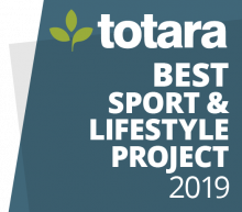 Totara Best Sport & Lifestyle Project 2019 badge