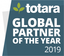 Totara Global Partner of the Year 2019 badge