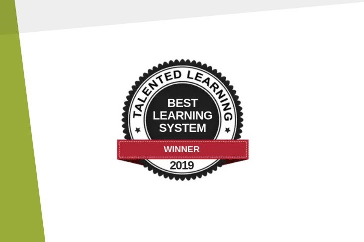 Talented Learning Corporate Extended Enterprise System award winning badge