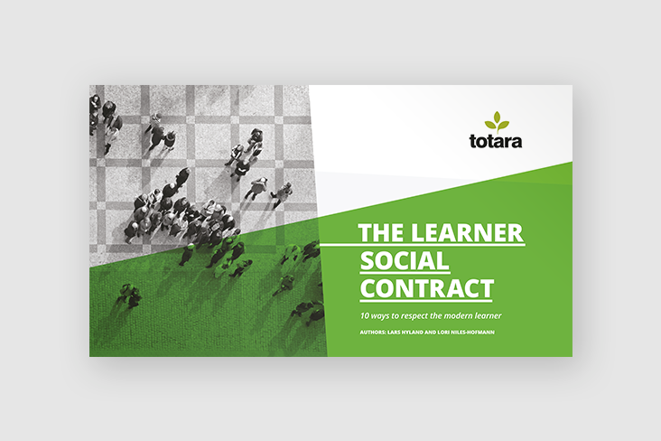 Totara learner social contract front cover