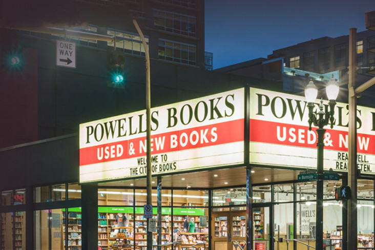 Powell's books banner