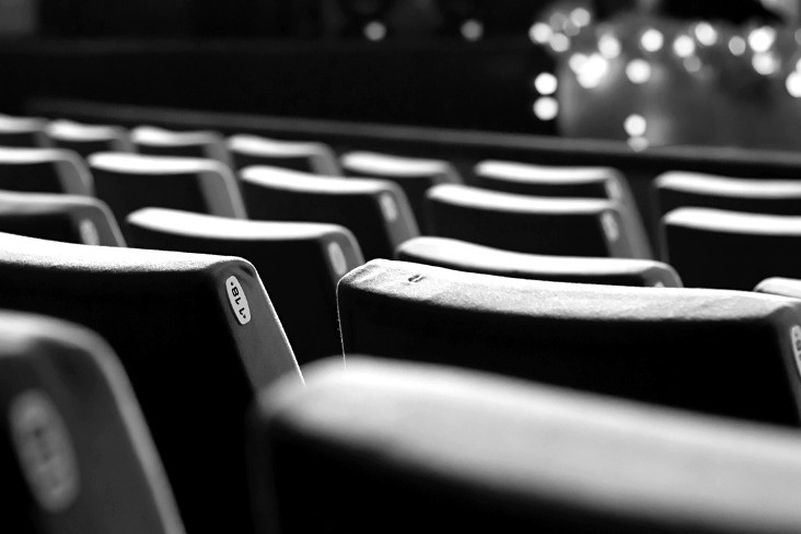 Empty theatre chairs