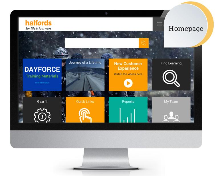 Halfords Totara LMS homepage