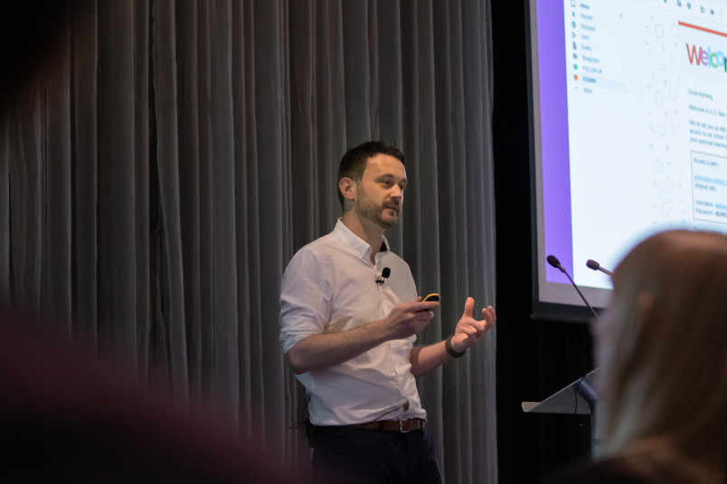 James Marshall at the EMEA Totara User Conference 2019