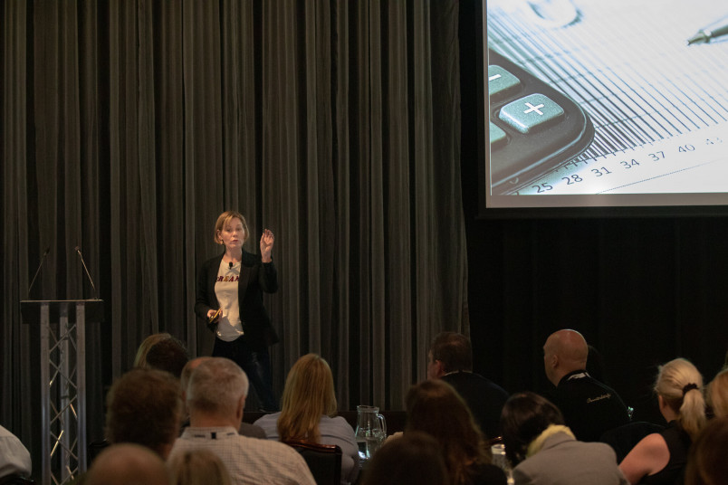 Lori Niles-Hofmann at the EMEA Totara User Conference 2019