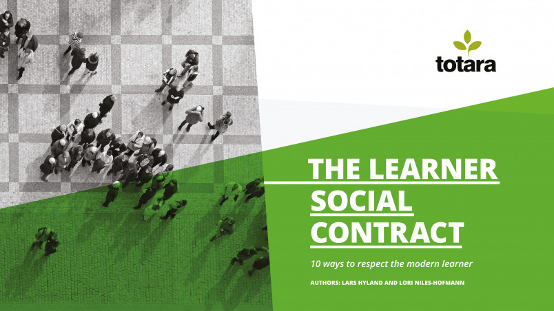 Totara learner social contract ebook front cover