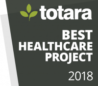 Totara Awards Badges - 2018 Best Healthcare Project