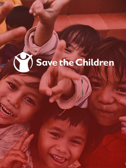 Save the Children teaser banner